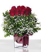 Karaman internetten çiçek siparişi  11 adet gül mika yada cam - anneler günü seçimi -