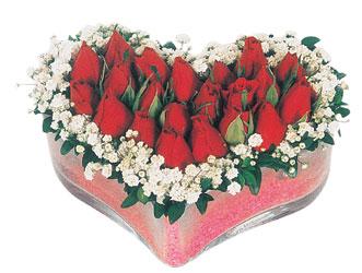 Karaman internetten çiçek satışı  mika kalpte kirmizi güller 9