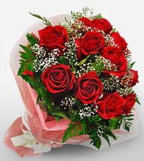 12 adet kırmızı güllerden kaliteli gül  Karaman hediye sevgilime hediye çiçek