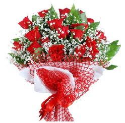 11 kırmızı gülden buket  Karaman güvenli kaliteli hızlı çiçek
