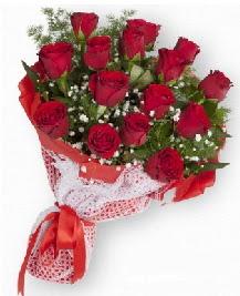 11 kırmızı gülden buket  Karaman çiçek gönderme