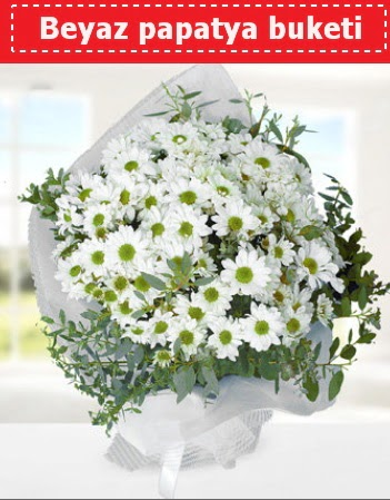 Beyaz Papatya Buketi  Karaman güvenli kaliteli hızlı çiçek