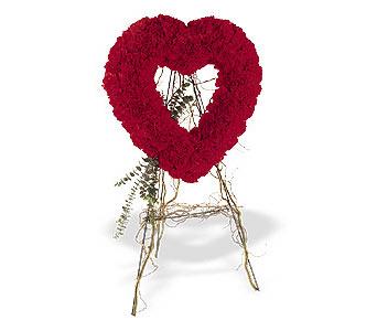 Karaman uluslararası çiçek gönderme  karanfillerden kalp pano