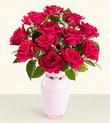 Karaman online çiçek gönderme sipariş  10 kirmizi gül cam yada mika vazo tanzim