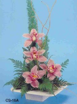 Karaman internetten çiçek satışı  vazoda 4 adet orkide