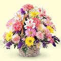 Karaman kaliteli taze ve ucuz çiçekler  sepet içerisinde gül ve mevsim