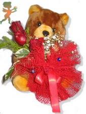 oyuncak ayi ve gül tanzim  Karaman 14 şubat sevgililer günü çiçek