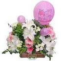 balon ve çiçeklerle tanzim  Karaman uluslararası çiçek gönderme