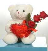 3 adetgül ve oyuncak   Karaman çiçek satışı