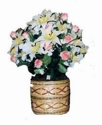 yapay karisik çiçek sepeti   Karaman İnternetten çiçek siparişi