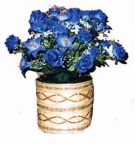 yapay mavi çiçek sepeti  Karaman çiçek mağazası , çiçekçi adresleri