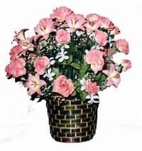 yapay karisik çiçek sepeti  Karaman çiçek yolla , çiçek gönder , çiçekçi