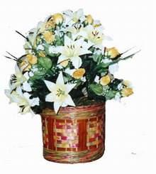 yapay karisik çiçek sepeti   Karaman çiçek mağazası , çiçekçi adresleri
