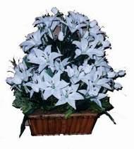 yapay karisik çiçek sepeti   Karaman çiçek online çiçek siparişi