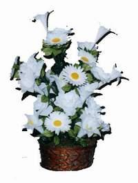 yapay karisik çiçek sepeti  Karaman hediye sevgilime hediye çiçek