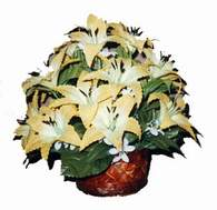 yapay karisik çiçek sepeti   Karaman cicekciler , cicek siparisi