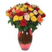 51 adet gül ve kaliteli vazo   Karaman hediye çiçek yolla