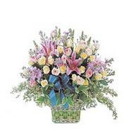 sepette kazablanka ve güller   Karaman çiçek siparişi sitesi