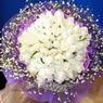 71 adet beyaz gül buketi   Karaman internetten çiçek siparişi