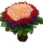 71 adet renkli gül buketi   Karaman çiçek siparişi vermek
