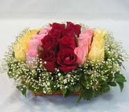 15 adet reprenkli gül sepeti   Karaman çiçekçi mağazası