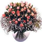 büyük cam fanusta güller   Karaman çiçekçi mağazası