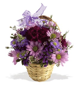 Karaman kaliteli taze ve ucuz çiçekler  sepet içerisinde krizantem çiçekleri