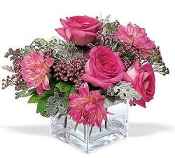 Karaman çiçek mağazası , çiçekçi adresleri  cam içerisinde 5 gül 7 gerbera çiçegi