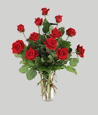 Karaman çiçek mağazası , çiçekçi adresleri  11 adet kirmizi gül vazo halinde