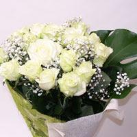 Karaman online çiçek gönderme sipariş  11 adet sade beyaz gül buketi