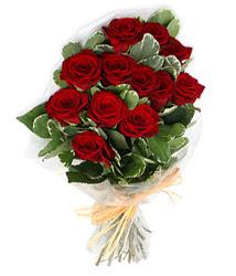 Karaman çiçek , çiçekçi , çiçekçilik  9 lu kirmizi gül buketi.