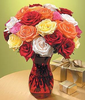 Karaman yurtiçi ve yurtdışı çiçek siparişi  13 adet renkli gül