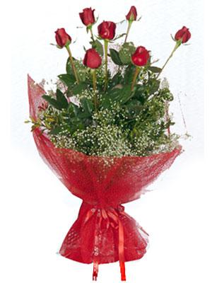 Karaman İnternetten çiçek siparişi  7 adet gülden buket görsel sik sadelik