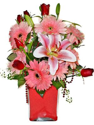 Karaman çiçek servisi , çiçekçi adresleri  karisik cam yada mika vazoda mevsim çiçekleri mevsim demeti