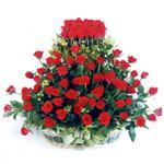 Karaman çiçek yolla  41 adet kirmizi gülden sepet tanzimi