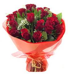 Karaman yurtiçi ve yurtdışı çiçek siparişi  11 adet kimizi gülün ihtisami buket modeli