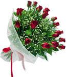Karaman uluslararası çiçek gönderme  11 adet kirmizi gül buketi sade ve hos sevenler