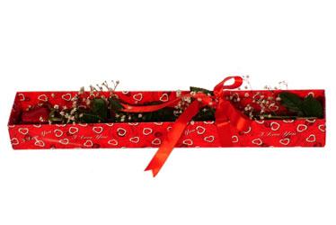Karaman internetten çiçek satışı  kutu içerisinde 1 adet kirmizi gül