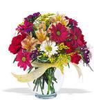 Karaman internetten çiçek siparişi  cam yada mika vazo içerisinde karisik kir çiçekleri