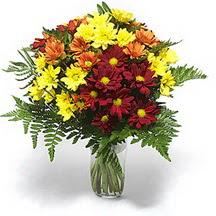 Karaman cicekciler , cicek siparisi  Karisik çiçeklerden mevsim vazosu