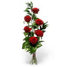 Karaman kaliteli taze ve ucuz çiçekler  mika yada cam vazoda 6 adet essiz gül