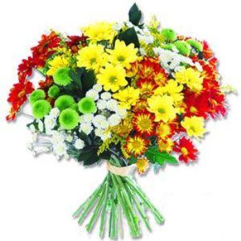 Kir çiçeklerinden buket modeli  Karaman çiçek online çiçek siparişi