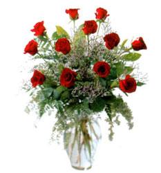 Vazo içerisinde 11 kirmizi gül  Karaman hediye sevgilime hediye çiçek