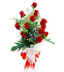 11 adet kirmizi güllerden görsel sölen buket  Karaman hediye sevgilime hediye çiçek