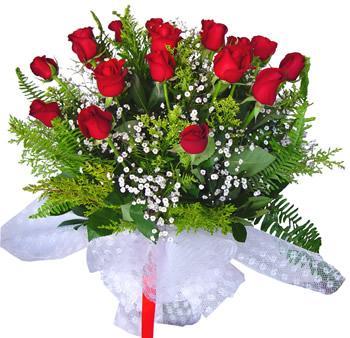 11 adet gösterisli kirmizi gül buketi  Karaman uluslararası çiçek gönderme
