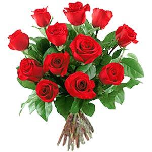 11 adet bakara kirmizi gül buketi  Karaman çiçek gönderme