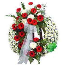 Cenaze çelengi cenaze çiçek modeli  Karaman kaliteli taze ve ucuz çiçekler
