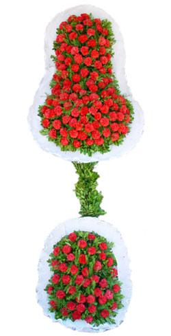 Dügün nikah açilis çiçekleri sepet modeli  Karaman çiçek servisi , çiçekçi adresleri