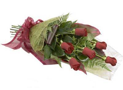 ucuz çiçek siparisi 6 adet kirmizi gül buket  Karaman cicekciler , cicek siparisi