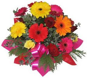 Karisik mevsim çiçeklerinden buket  Karaman online çiçekçi , çiçek siparişi